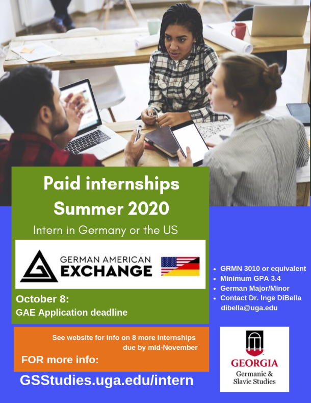 Paid internships through the German American Exchange