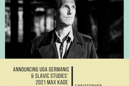 Playwright and novelist Christopher Kloeble announced as the 2021 Max Kade Writer-in-Residence at the University of Georgia's Department of Germanic & Slavic Studies.