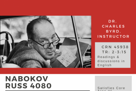 he course Russian 4080 is about the life and work of Vladimir Nabokov. It will be taught in Fall 2020.